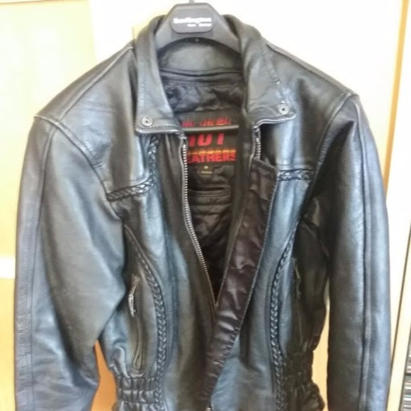 Hot Leathers Jackets & Blazers - Women's leather coat size Small